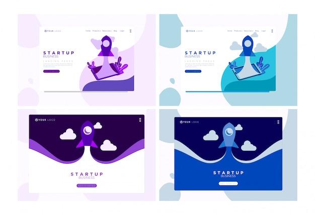 Ilustração plana de negócios