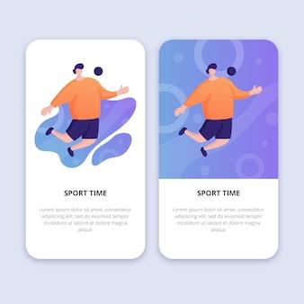 Ilustração plana de tempo de esporte