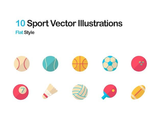 Ilustração plana desportiva