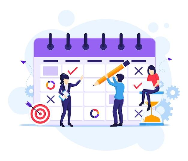 Ilustração plana do conceito de planejamento de negócios