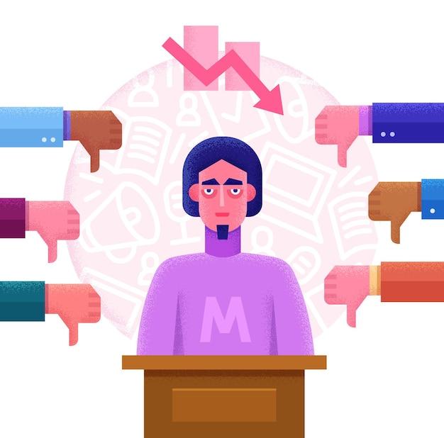 Ilustração plana do conceito de votação