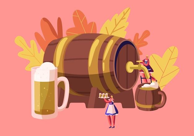 Ilustração plana do conceito do festival da baviera oktoberfest