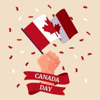 Ilustração plana do dia do canadá