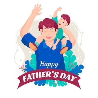 Ilustração plana do dia do pai