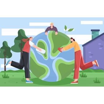 Ilustração plana do dia mundial da criança