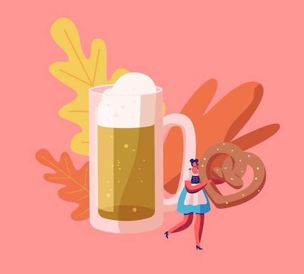 Ilustração plana dos desenhos animados do conceito do festival oktoberfest