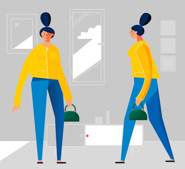 Ilustração plana na moda design de personagens, pessoas em várias poses