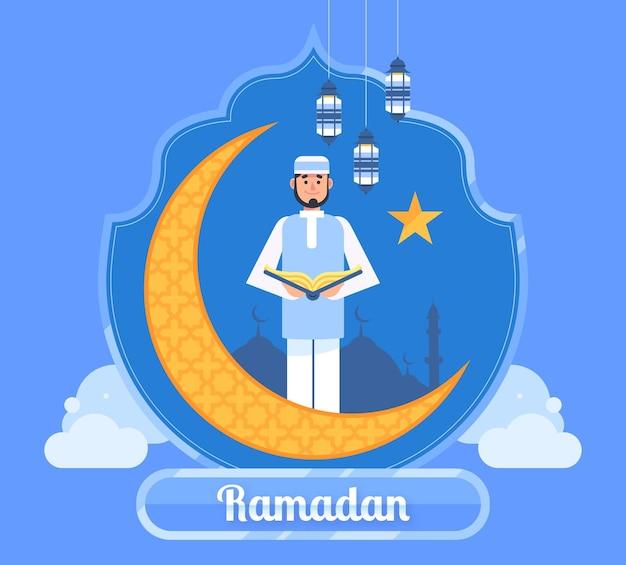 Ilustração plana ramadan