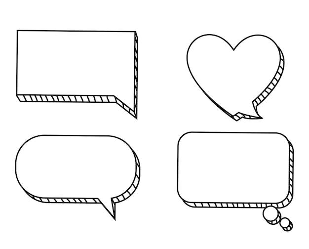 Ilustração plana sobre design de bolha