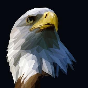Ilustração poligonal de águia