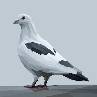 Ilustração poligonal de pombo