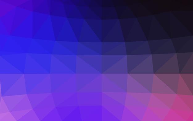 Ilustração poligonal de vector azul