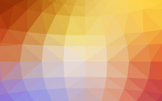 Ilustração poligonal de vetor amarelo