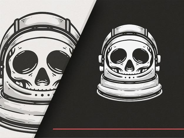 Ilustração premium do estilo skull astronot