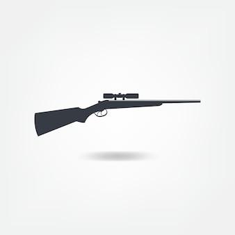 Ilustração preta do rifle de atirador