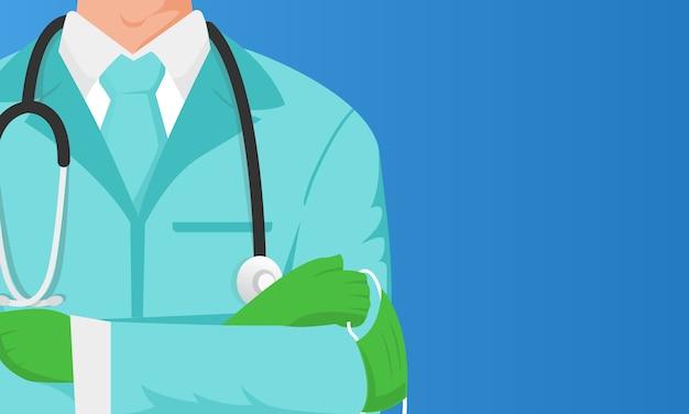 Ilustração profissional médico com área de texto