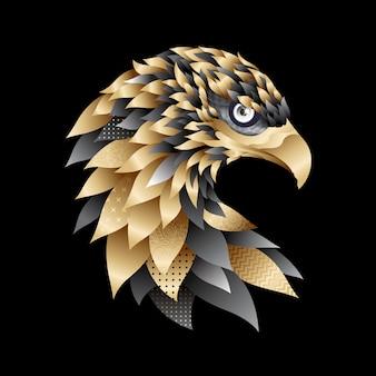 Ilustração real da águia dourada