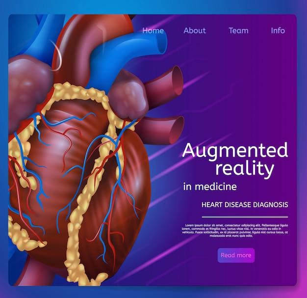 Ilustração realidade aumentada em medicina