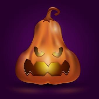 Ilustração realista abóbora de halloween