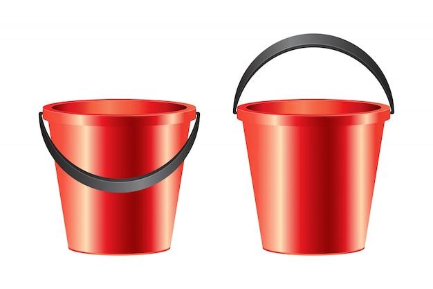 Ilustração realista balde isolada no branco