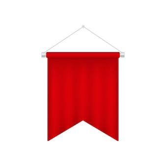 Ilustração realista da bandeira 3d