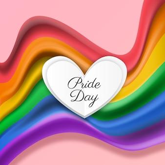 Ilustração realista da bandeira do dia do orgulho