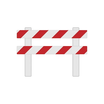 Ilustração realista da barreira rodoviária para conceitos de tráfego e transporte, impressões ou em construção