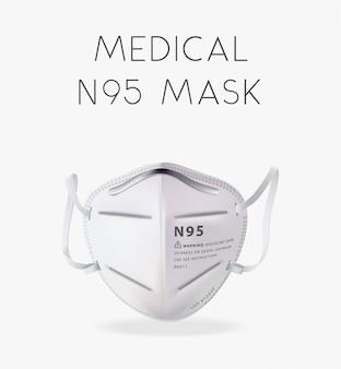 Ilustração realista da máscara n95