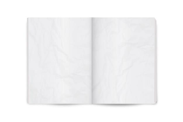 Ilustração realista da página espalhada layout de revista ou jornal