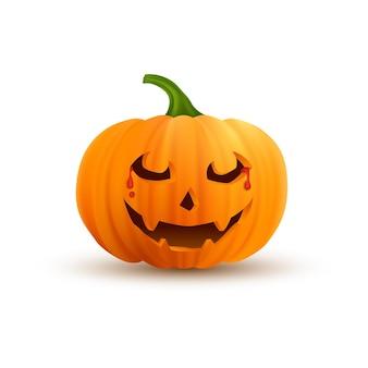 Ilustração realista de abóbora de halloween