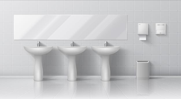 Ilustração realista de banheiro público