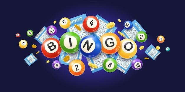 Ilustração realista de bingo