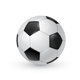 Ilustração realista de bola de futebol isolada no fundo branco.