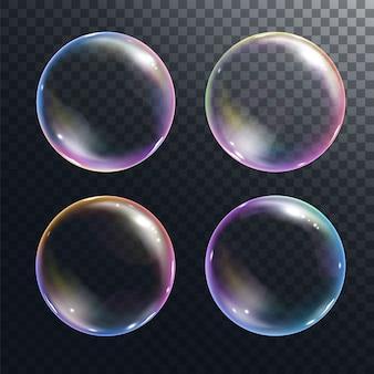 Ilustração realista de bolhas de sabão