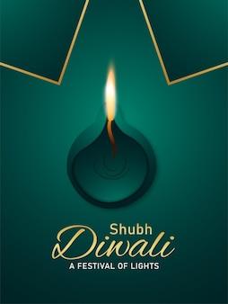 Ilustração realista de feliz diwali
