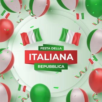 Ilustração realista de festa della repubblica