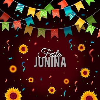 Ilustração realista de festa junina