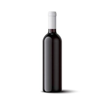 Ilustração realista de garrafa de vinho