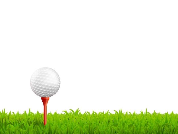 Ilustração realista de golfe