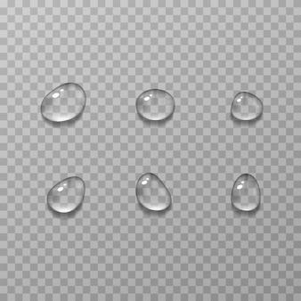 Ilustração realista de gotas de água de condensação