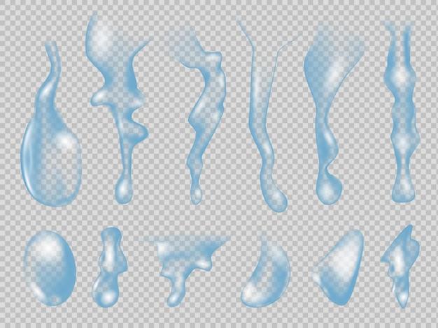 Ilustração realista de gotas de água