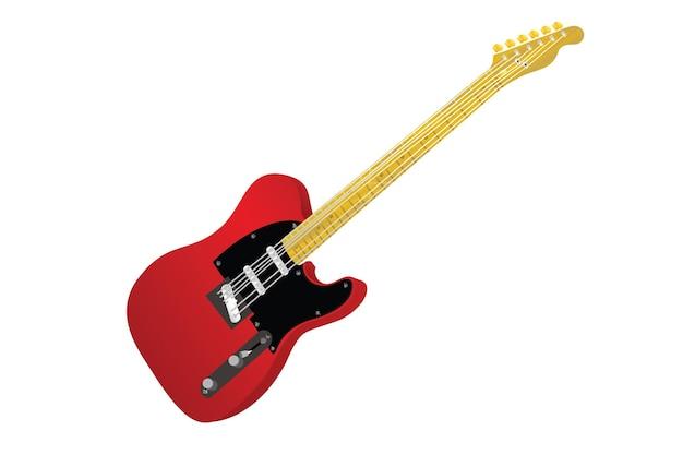 Ilustração realista de guitarra
