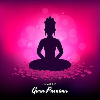 Ilustração realista de guru purnima