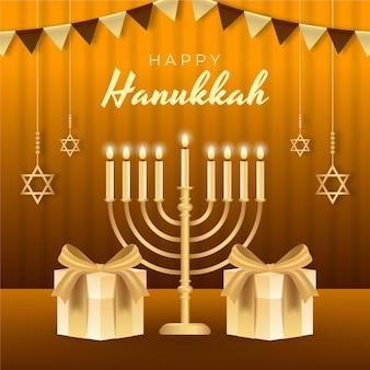 Ilustração realista de hanukkah