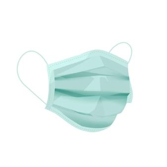 Ilustração realista de máscara médica