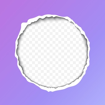 Ilustração realista de papel rasgado com sombra