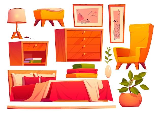 Ilustração realista de vários conjuntos de móveis
