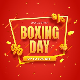 Ilustração realista de venda de boxing day