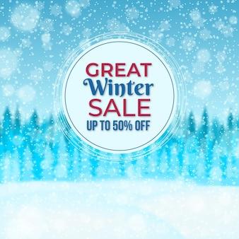Ilustração realista de venda de inverno