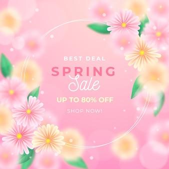 Ilustração realista de venda de primavera turva